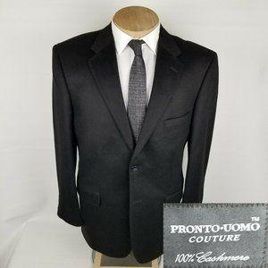 Pronto Uomo Couture Mens Sport Coat 44R Cashmere